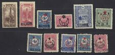 "CILICIA TURKEY SYRIA 1919 COLL OF 11 OF SOME OF THE FIRST ""CIRCLE"" OVPTS SMALL &"