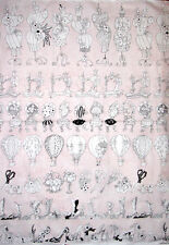 Loralie Harris Designs Sew Paree Seven Rows Sewing Theme Pink Cotton Fabric YD
