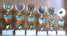 6 Pokale Serie gestaffelt mit Emblem NEU #A3 (Pokal Gravur Medaillen Sportfest)