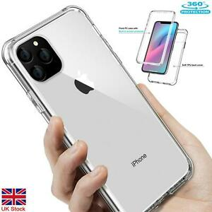 360° Full Bumper Heavy Duty Shockproof Crystal Clear Case Cover For iPhone Model