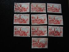 MAROC - timbre yvert et tellier n° 262A x10 obl (A29) stamp morocco (A)