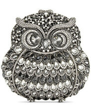 LA REGALE Owl Crystal Minaudiere Datachable Chain, Magnetic Closure Clutch $284