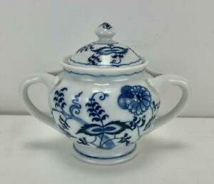 Blue Danube (Japan) Blue Onion Style Sugar Bowl with Lid 11cm - Discontinued