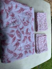 Frannel Queen Set Of Sheet And 2 Pillow Cases Pink White Floral Unbranded Queen