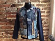 VTG FRENCH WORK JACKET Workwear Chore Bleu de travail Denim Patchwork Boro S M