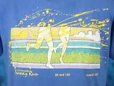 vtg 80s SEAWAY RUN MICHIGAN BEACH SUNSET BUTTERY SOFT T-Shirt MEDIUM marathon