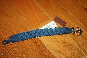 Brand New POLO Ralph Lauren UNISEX Anchor Braided Bracelet Wrist Strap 5 colors
