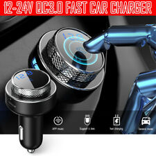 Handsfree Car Kit Wireless Bluetooth FM Transmitter 5.0 MP3 Player Radio Adapter