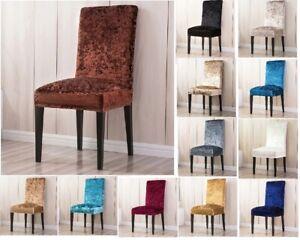 1/2/4/6 Pcs/Set Velvet Shiny Fabric Chair Cover Universal Size Stretch Seat Case