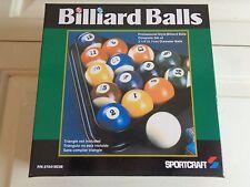 "Sportcraft Professional Style Complete Set Billiard Balls 2 14"" Diameter New NIB"