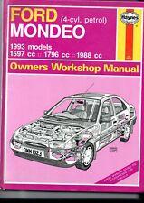 HAYNES FORD MONDEO PETROL 1993 OWNERS WORKSHOP MANUAL USED