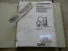 CLARK Forklift PMA 273 10th Revision C500 355 Planned Maintenance Manual