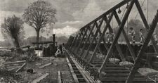 London main drainage: Barrow-hoist, southern high-level sewer at Peckham, 1861