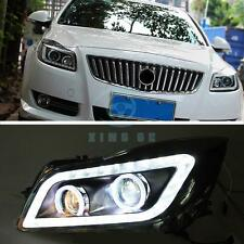 LED DRL Bi-xenon Projector Headlight Assembly Lens Fit For Buick Regal 2009-2012