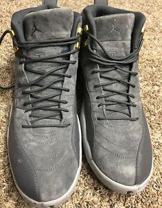 Nike Air Jordan 12 Retro Dark Grey / Wolf Grey 130690 005 Men's Size 16