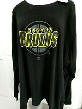 Women Boston Bruins NHL Long Sleeve Shirt Majestic Plus Size 4X Black Cotton New