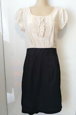 Portmans black/cream work dress. Size 8