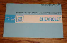1971 Chevrolet Full Size Car Owners Operators Manual 71 Chevy Impala Caprice