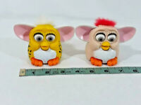 """Vintage Lot Of 2 Furby Toy 1998 McDonalds Toy Plastic 3"""" Toy ~ Ships FREE"""