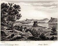 Miseno: Campi Elisei. Bacoli. Audot.Acciaio. Steel engraving.+ Passepartout.1835