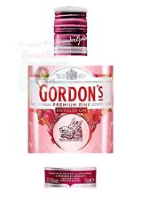 PINK GORDONS GIN BOTTLE LABEL EDIBLE ICING CAKE TOPPER DECORATION