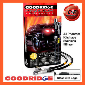 Opel Manta GTE & 1.8S 83-88 Goodridge S.Steel Cl Text Brake Hoses SOP0102-3C-CLG