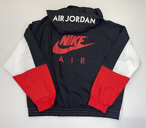 Nike Air Jordan Flight windbreaker AJ4 Jacket Fire Red Size XL DD0394 100 A19