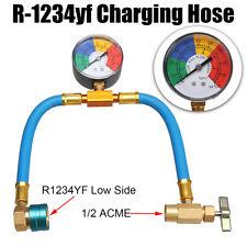 R-1234yf A/C Service Charging Hose & 100PSI Gauge Coupler Refrigerant Cans Taper
