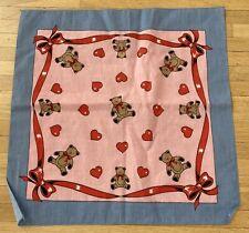 Lot of 12 New Bandanas Hav-A-Hank Hearts & Bears Made in Usa Cotton Handkerchief