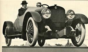 1917 Vintage Orig HOUK WIRE WHEELS Ad. PHOTO Sporty 2-Seater Photo. Buffalo, NY