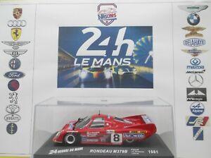 1/43 24 heures du Mans 1981 Rondeau M379B #8 Streiff-Schlesser-Haran Altaya
