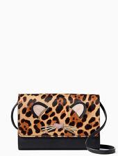 NWT Kate Spade Run Wild Leopard Summer Leather Phone Crossbody Bag Wallet