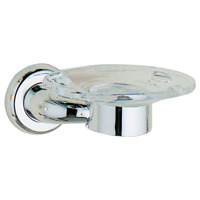 F1405 Futura Bath Toothbrush /& Tumbler Holder Polished Chrome Finish
