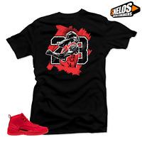 Shirt to Match Jordan 12 Bulls-GOAT Black Tee