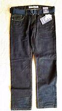 Mens Machine Slim Straight Dark Wash Jeans with Woven Belt - 502