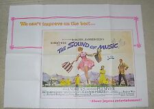 """Fabulous Vintage 1 Sheet 30"""" x 40"""" The Sound of Music Movie Poster London UK"""