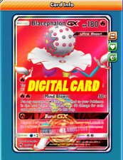 FA Blacephalon GX FULL ART 199/214 for Pokemon TCG Online (PTCGO, Digital Card)