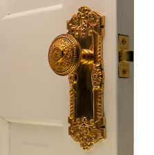 The Wells Passage Set in Polished Brass with Beaded Door Knobs