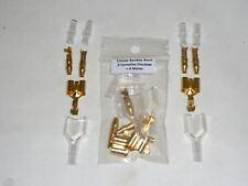 Cosses rondes 4mm : 2 Femelles Doubles + 4 Males à sertir Manchon Silicone