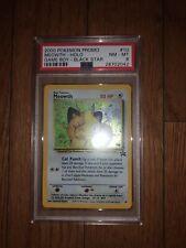 2000 PSA 8 NM MINT Meowth Black Star Promo Holo GameBoy Pokemon
