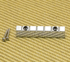 NUT-N-2C Chrome 6-string Lap Steel Style Raised Guitar Nut w/ Screws 47mm