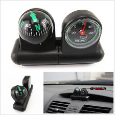 Universal Mini Compass/Thermometer Combo Car/RV/Boat Dash Mount Travel Camping