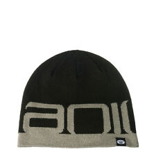 ANIMAL MENS BEANIE HAT.NEW ADDAM BLACK/GREY WINTER KNITTED ACRYLIC CAP 7W 1 002