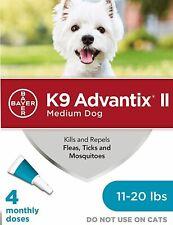 Bayer K9 Advantix Ii Flea Treatment Medium Dog11-20 lbs 4 Doses (Box Vary)