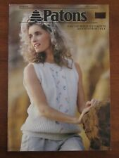 PATONS KNITTING - 848 LADY'S SUMMER HANDKNITS in COTTONTOP 7PLY TOPS VEST