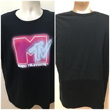 MTV Music Television Mens Black Size XL Short Sleeve T-shirt NWoT