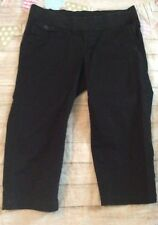 Old Navy Maternity Cropped Black Pants Size 10 Casual Comfy