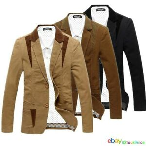 Spring NEW Men's Blazers coats casual suit jacket thin coat Man Splice outerwear