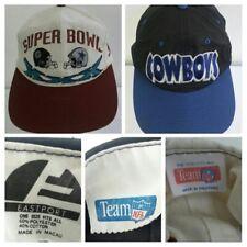 Vintage Dallas Cowboys '96 Super Bowl XXX Snapback Souvenir Hats Lot x 2