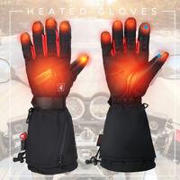 Motorbike Motorcycle Heated Gloves Winter Warm Battery Electric Waterproof M~XL